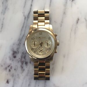 Michael Kors Runway Gold-Tone Watch